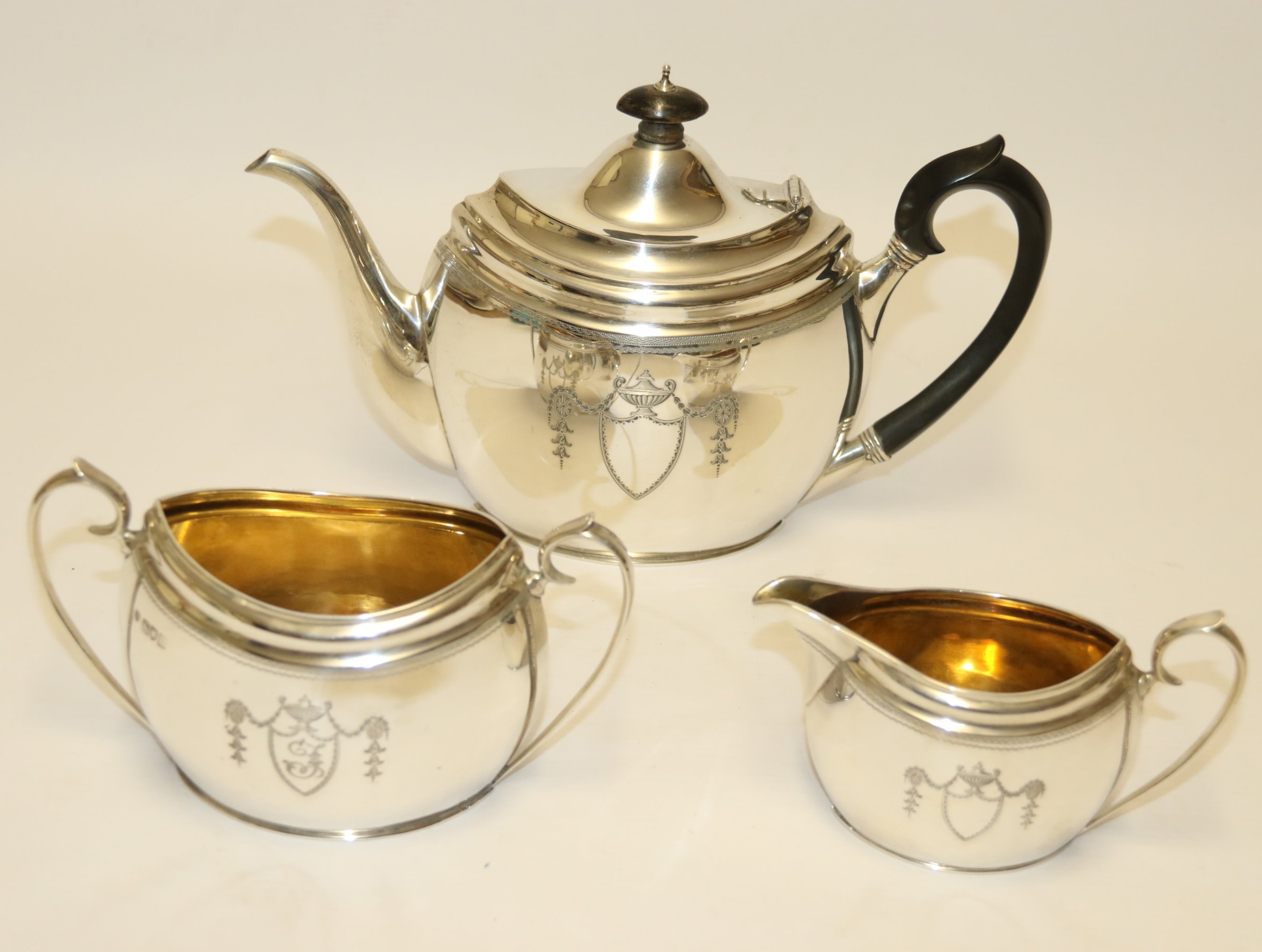 exceptional silver tea set by edward barnard and sons