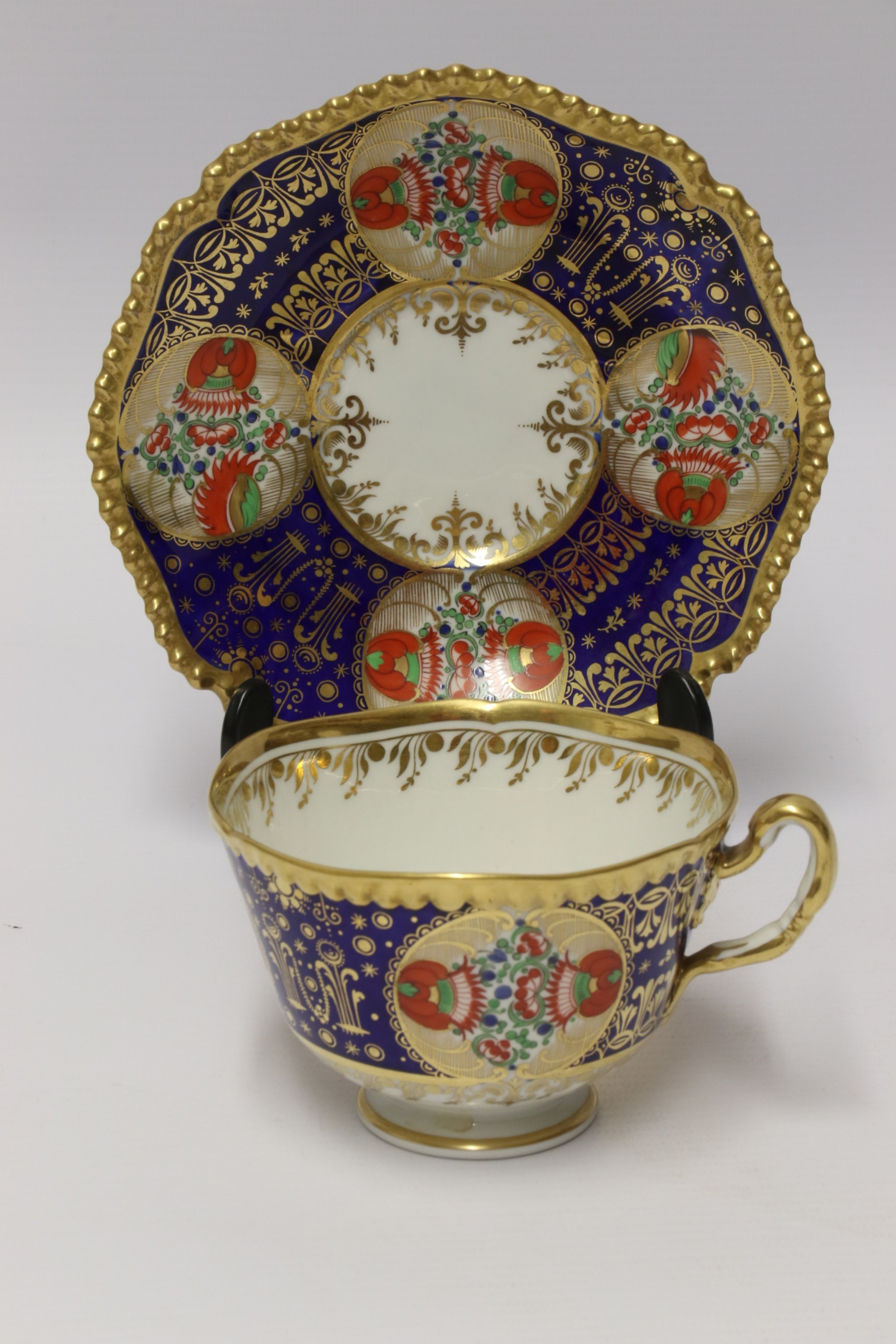 an early 19th c chamberlain worcester cup and saucerfrom the sir james yeo service