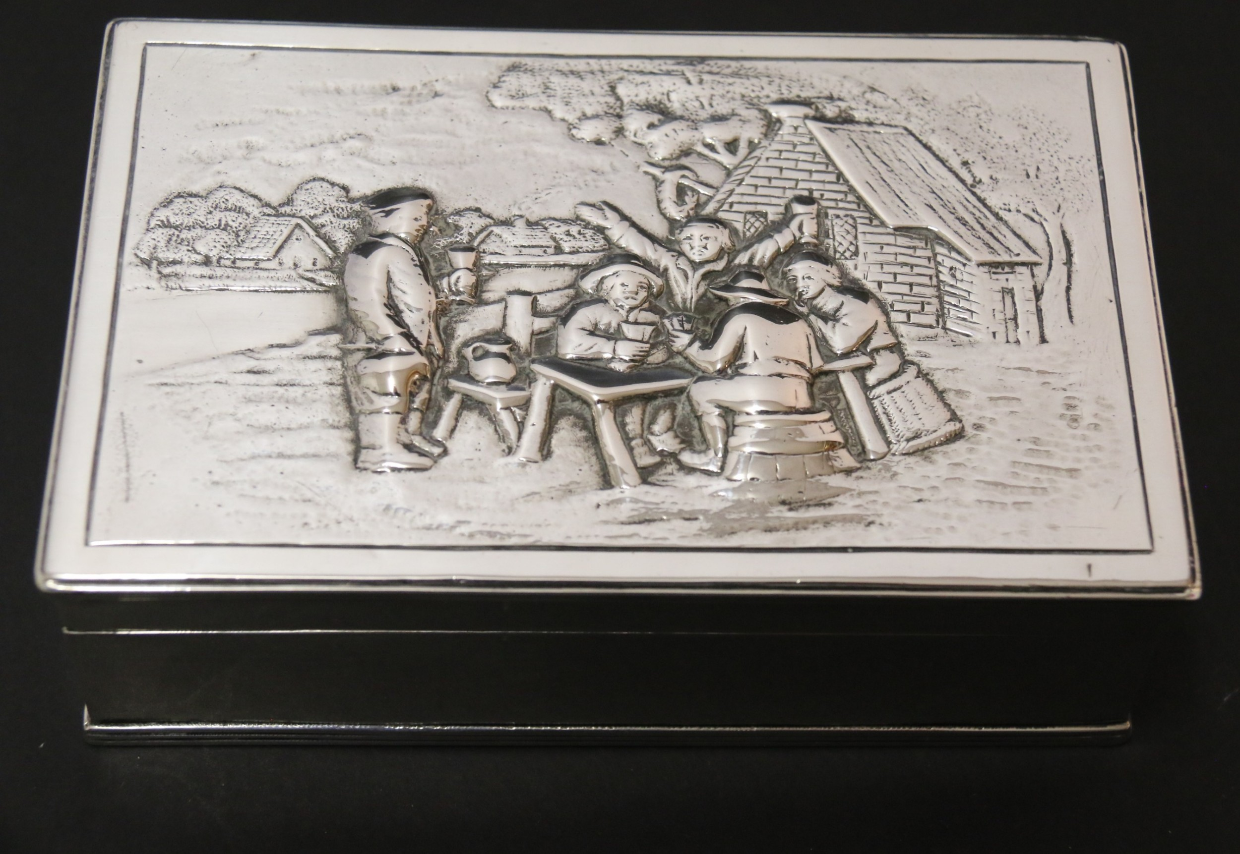an early 19th century silver box