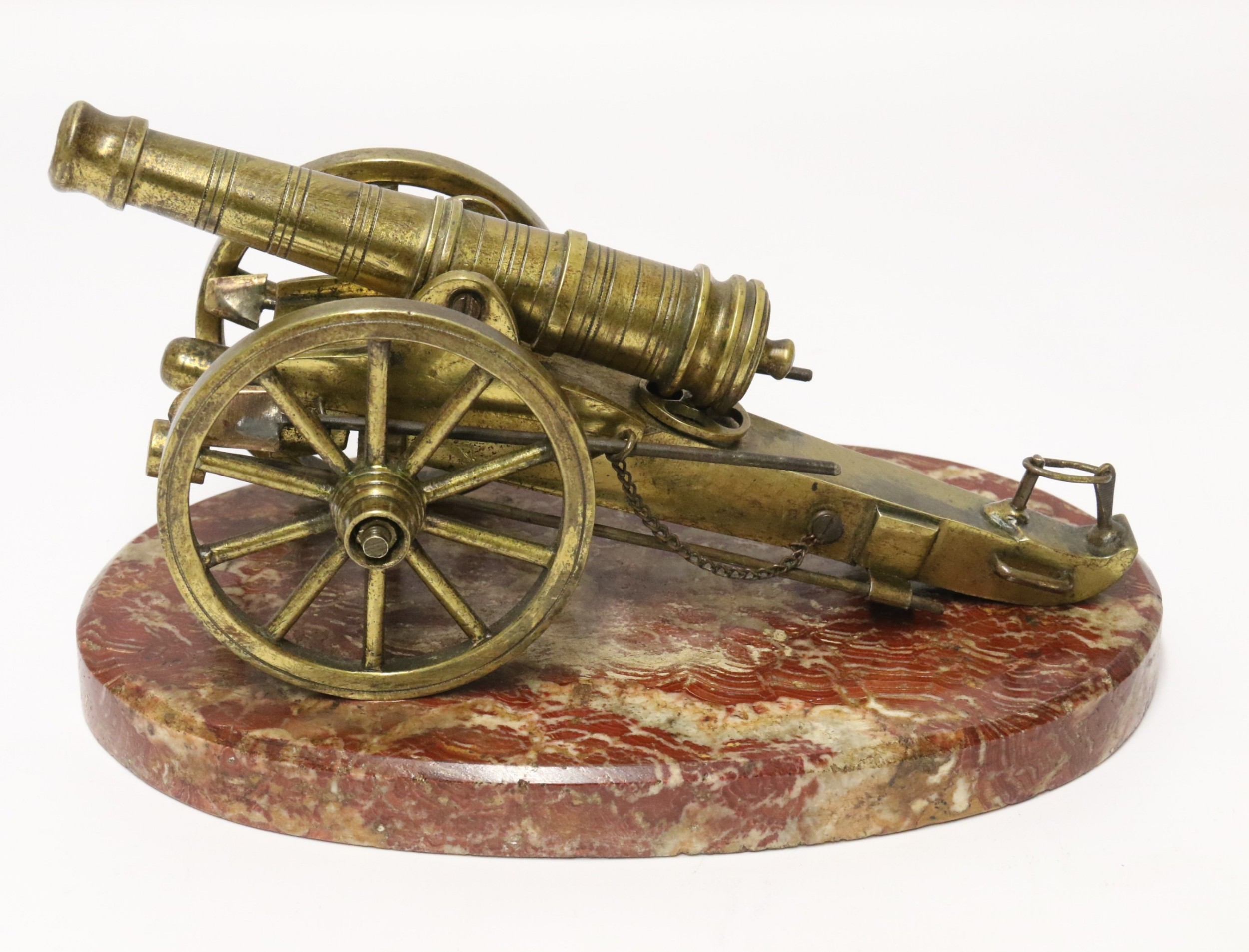 a superb mid19th century french bronze model canon