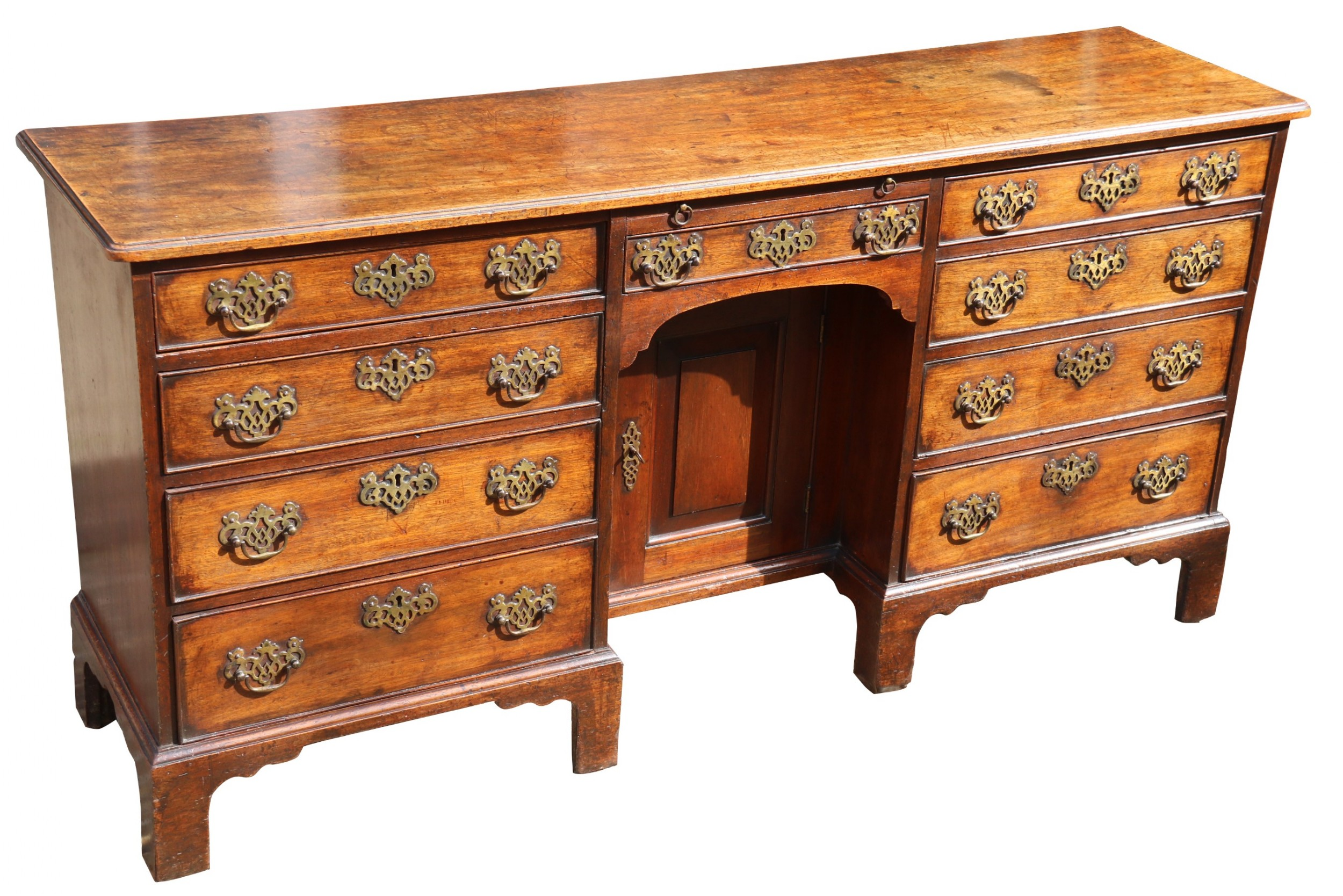 a rare irish 18th century mahogany library cabinet of very small proportions