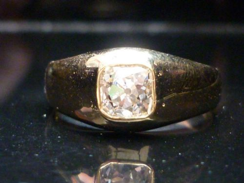 stunning 18ct gold 125ct old mine cut diamond solitaire ring free sizing