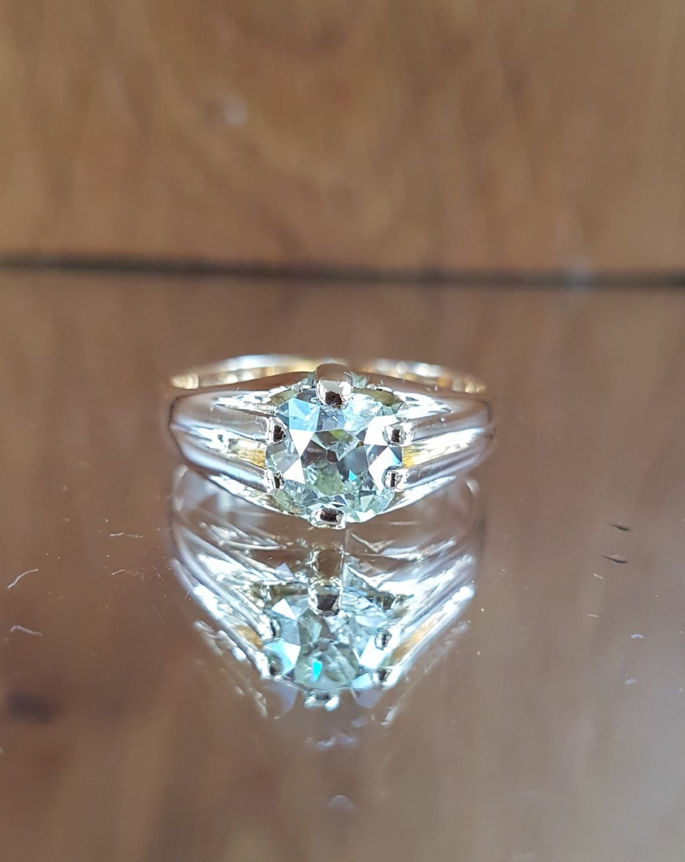 exquisite victorian 18ct gold 130ct old mine cut solitaire diamond ring free sizing