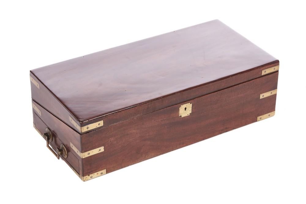 large antique georgian mahogany writing box