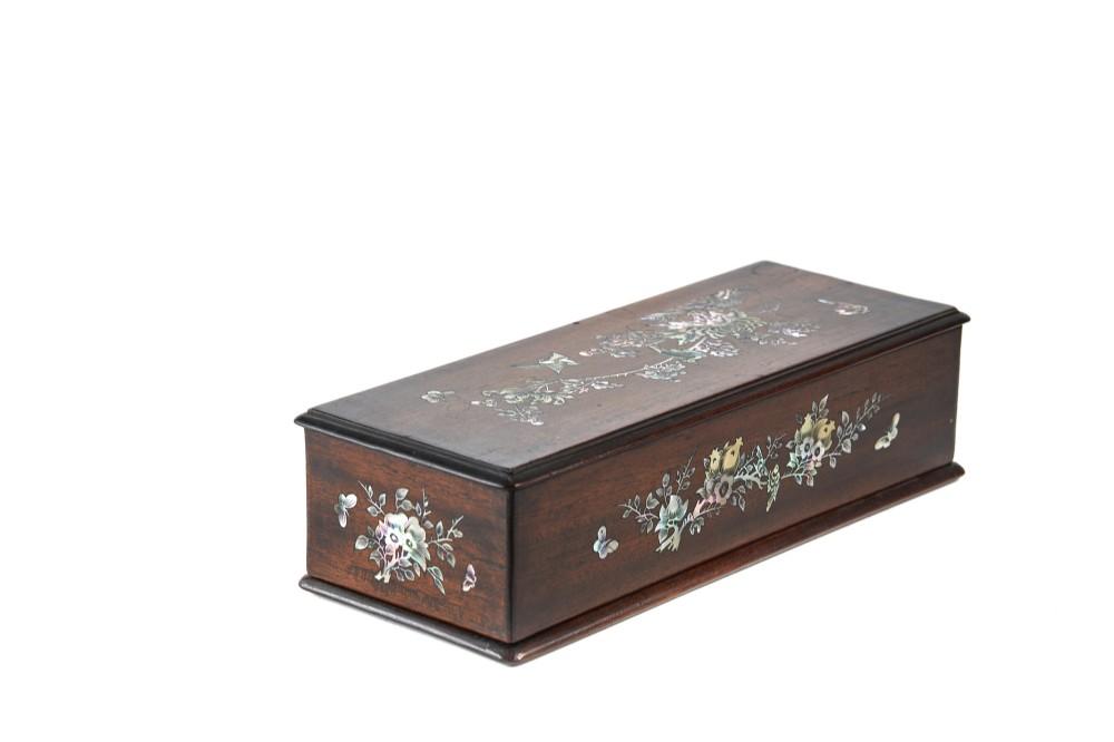 stunning 19th century oriental inlaid box
