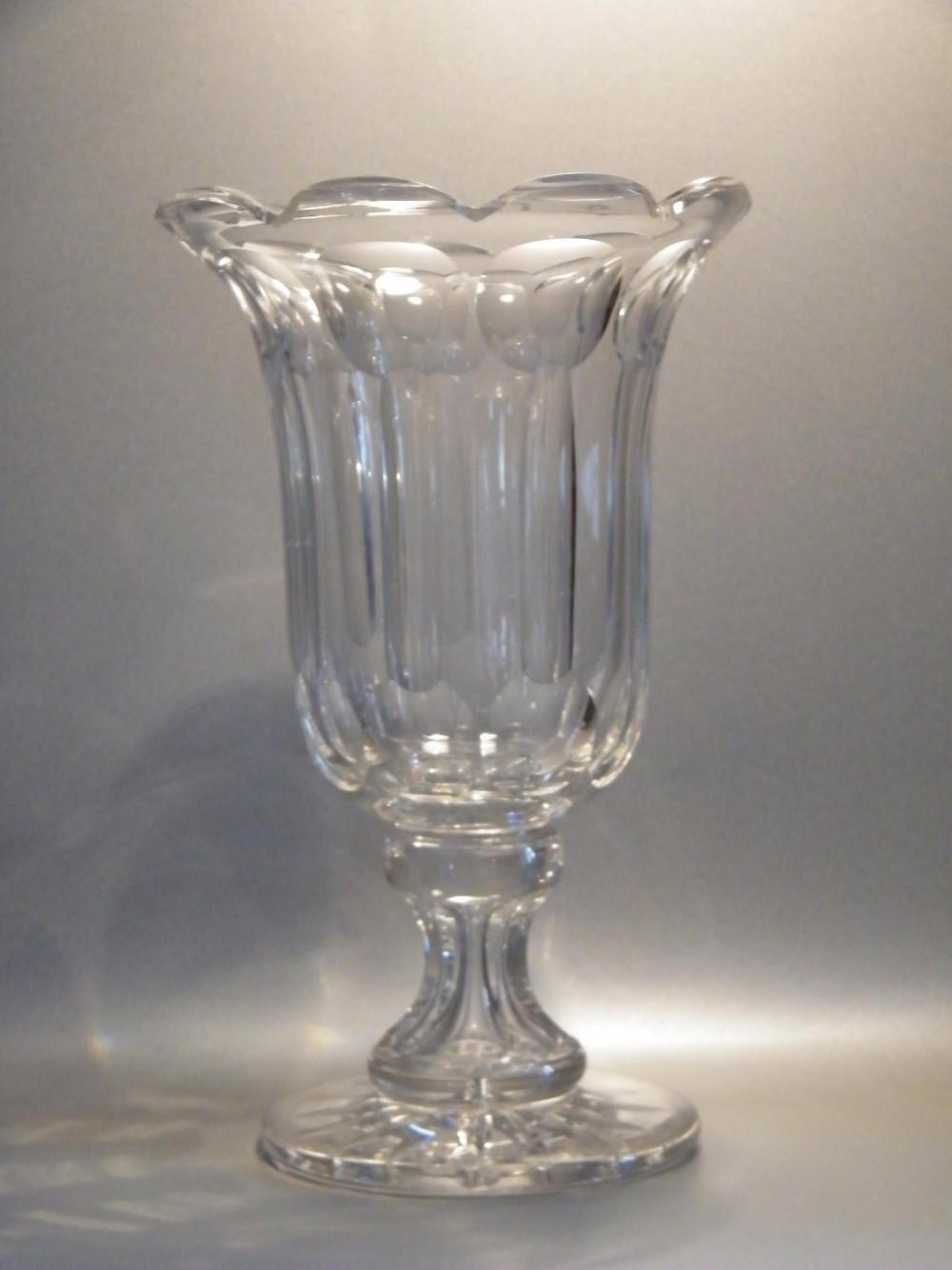 Large Cut Glass Celery Vase 19th Century 433673 Sellingantiques Co Uk