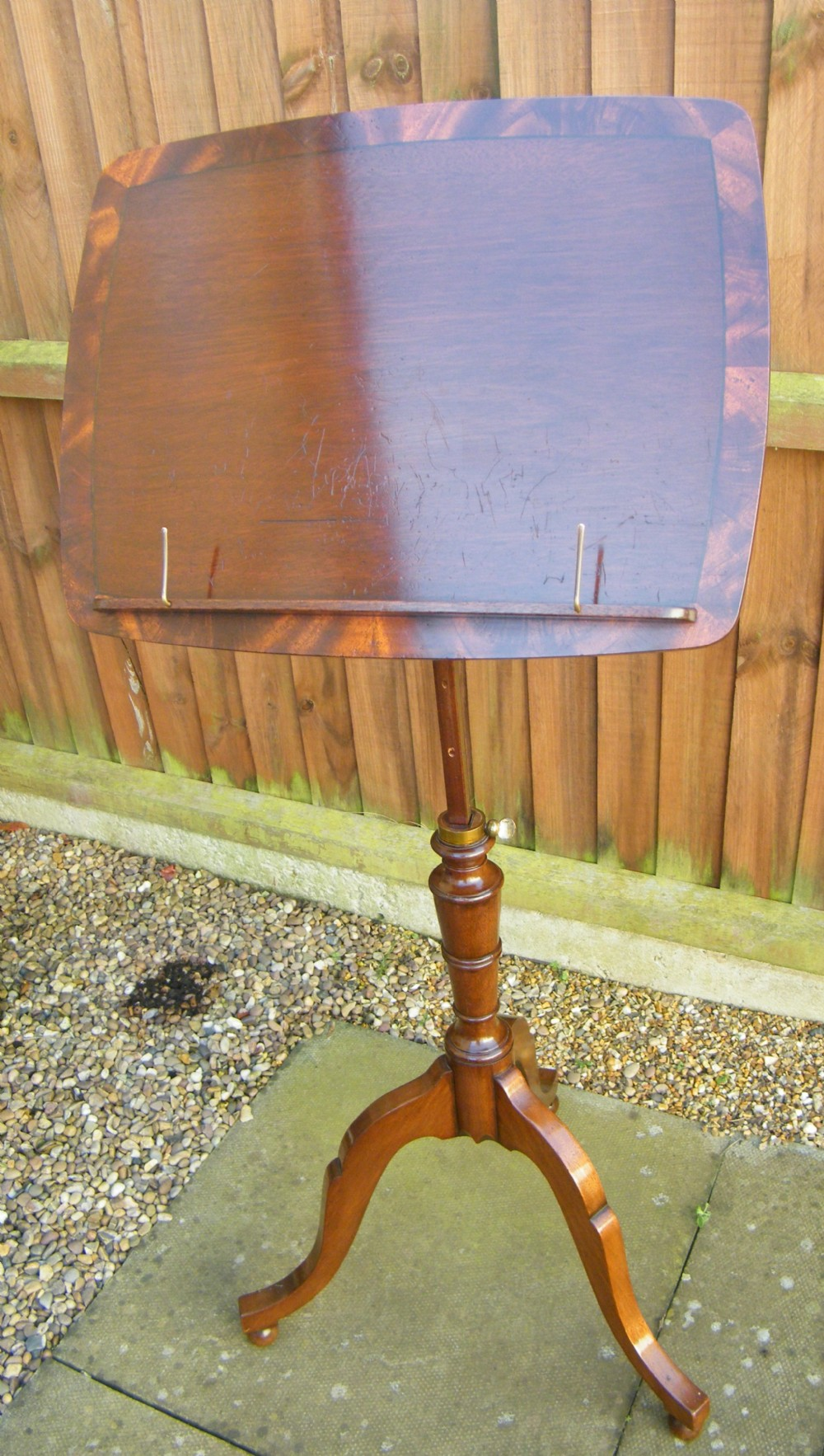 c19th metamorphic table music or reading stand