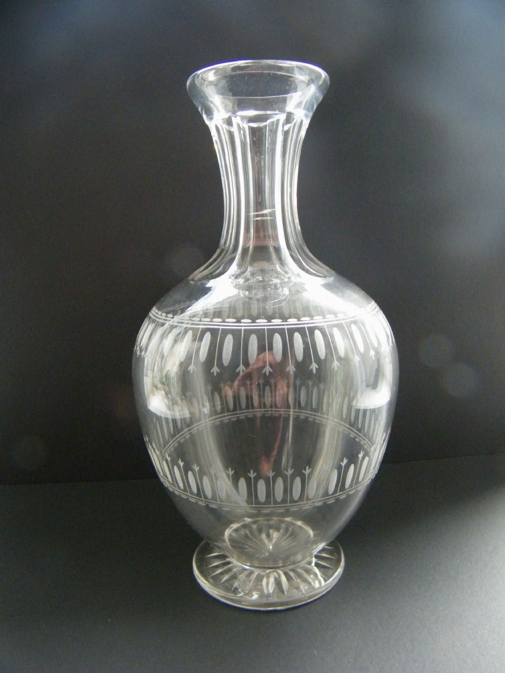 late victorian cut and etched carafe