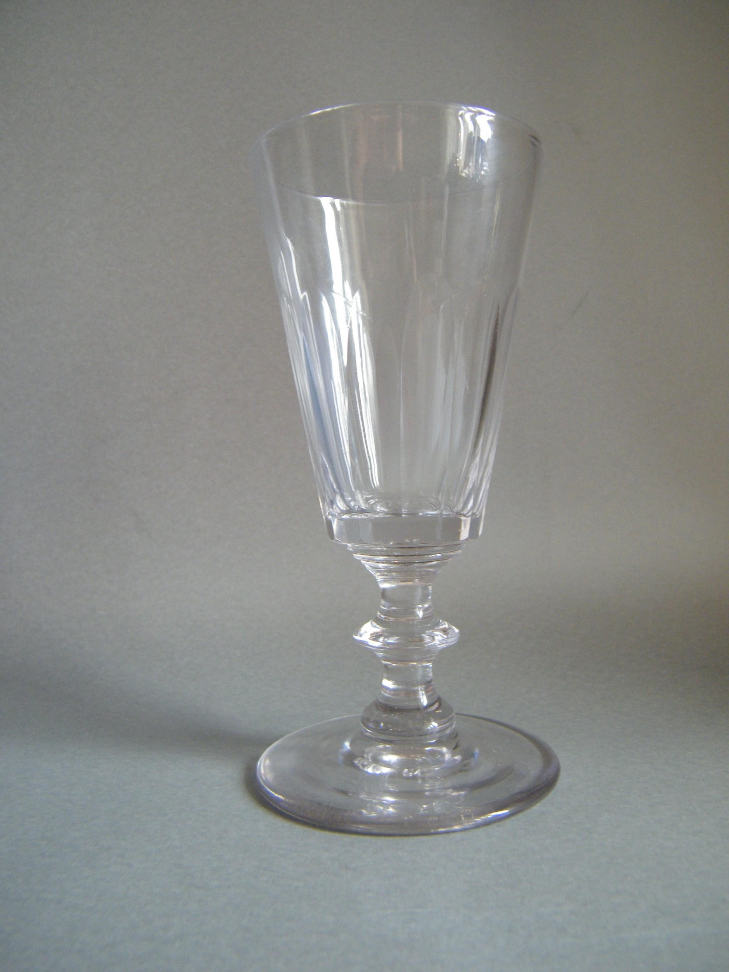 early 19th century flute cut dwarf ale glass