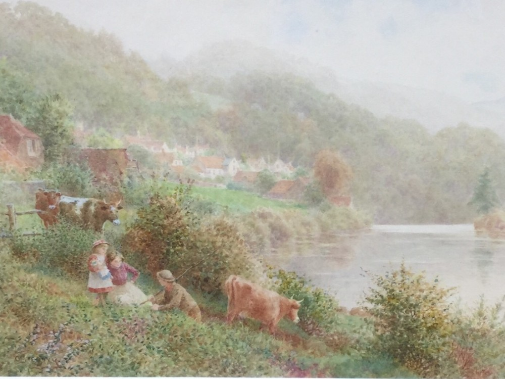 watercolour misty morning on the wye charles gregory