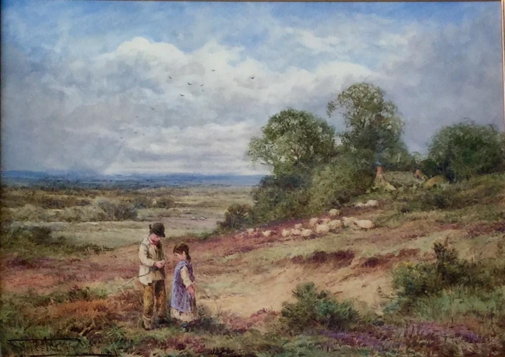 henry john sylvester stannard watercolour the shepherds boy