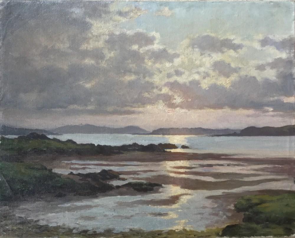 james buchanan oil painting atmospheric scottish seascape