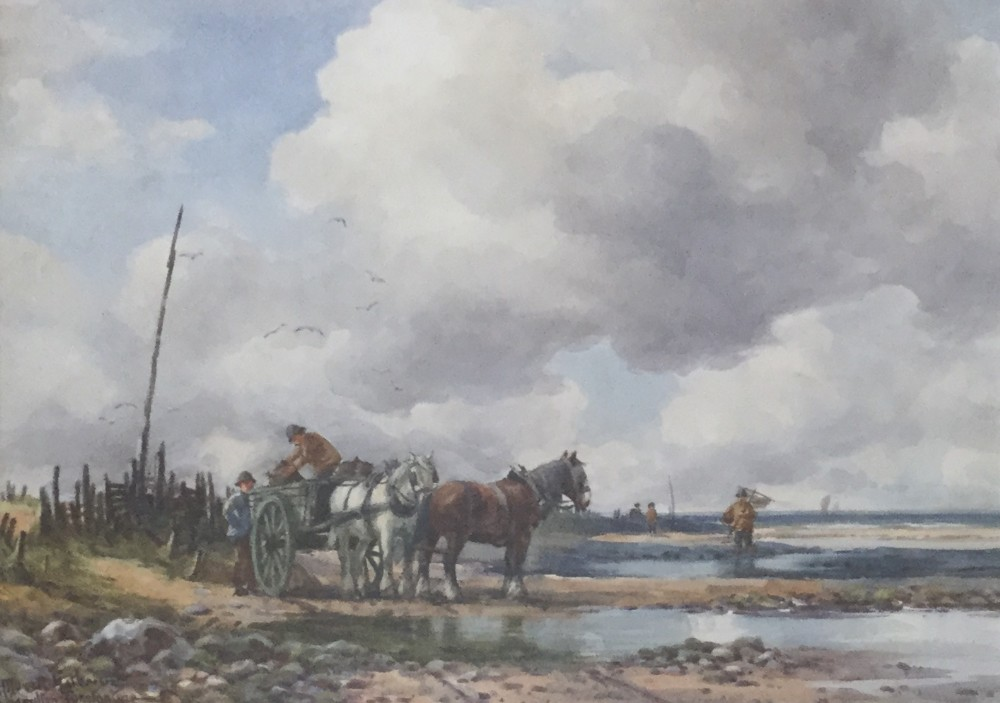 george hamilton constantine watercolour the mussel gatherers