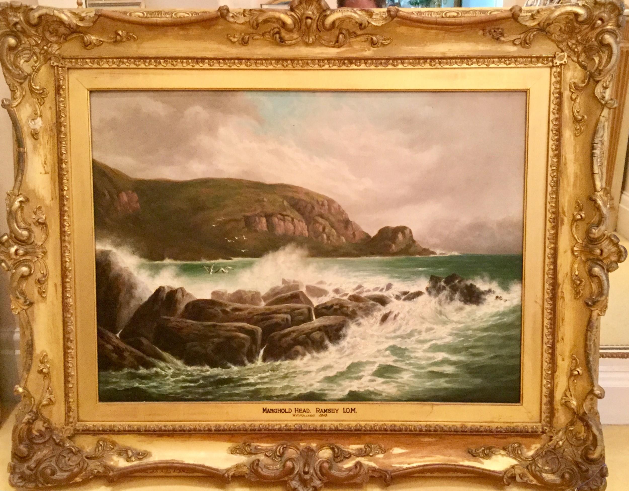 william perring hollyer oil painting ' manghold headramsey isle of man'