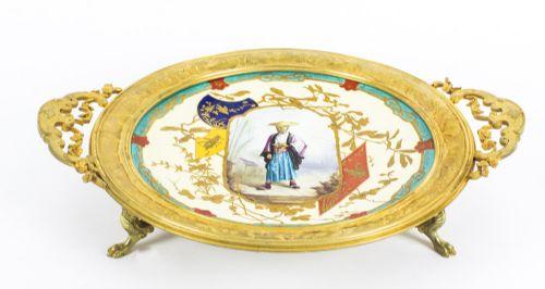 antique french japonesque porcelain dish by louis pierre malpass 19th c