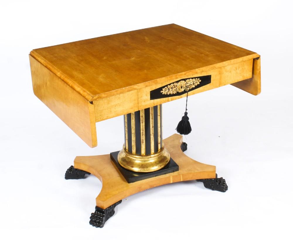 antique biedermeier swedish birch ormolu mounted sofa table c1820 19th century