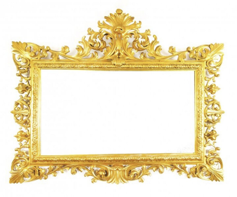 antique large english carved giltwood overmantel mirror c1860 120x143cm