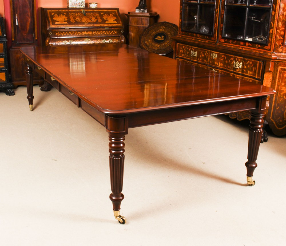 antique 8ft 6 regency flame mahogany extending dining table c1820 19th c
