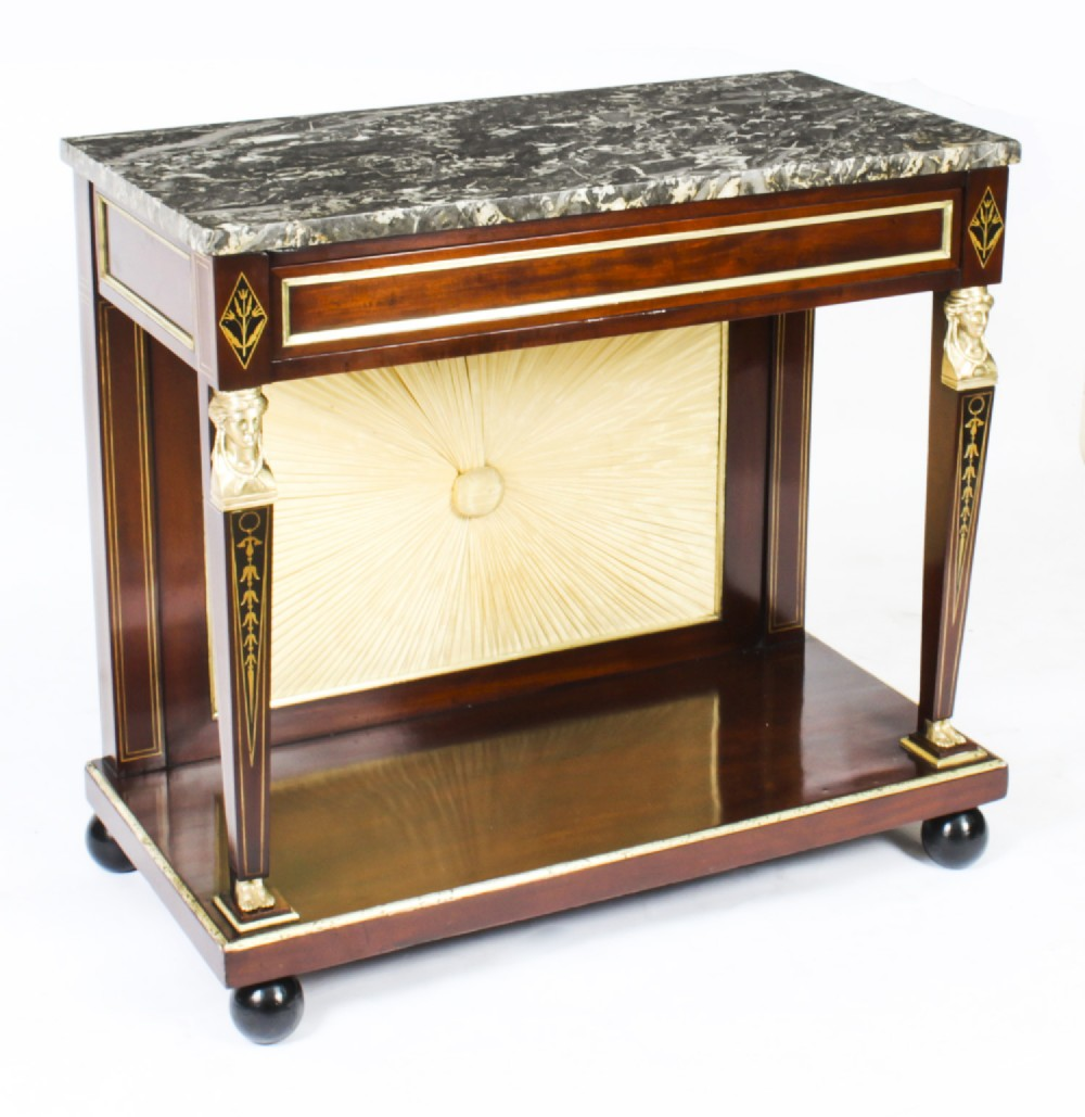 antique french empire marble top ormolu console table c1810 19th c
