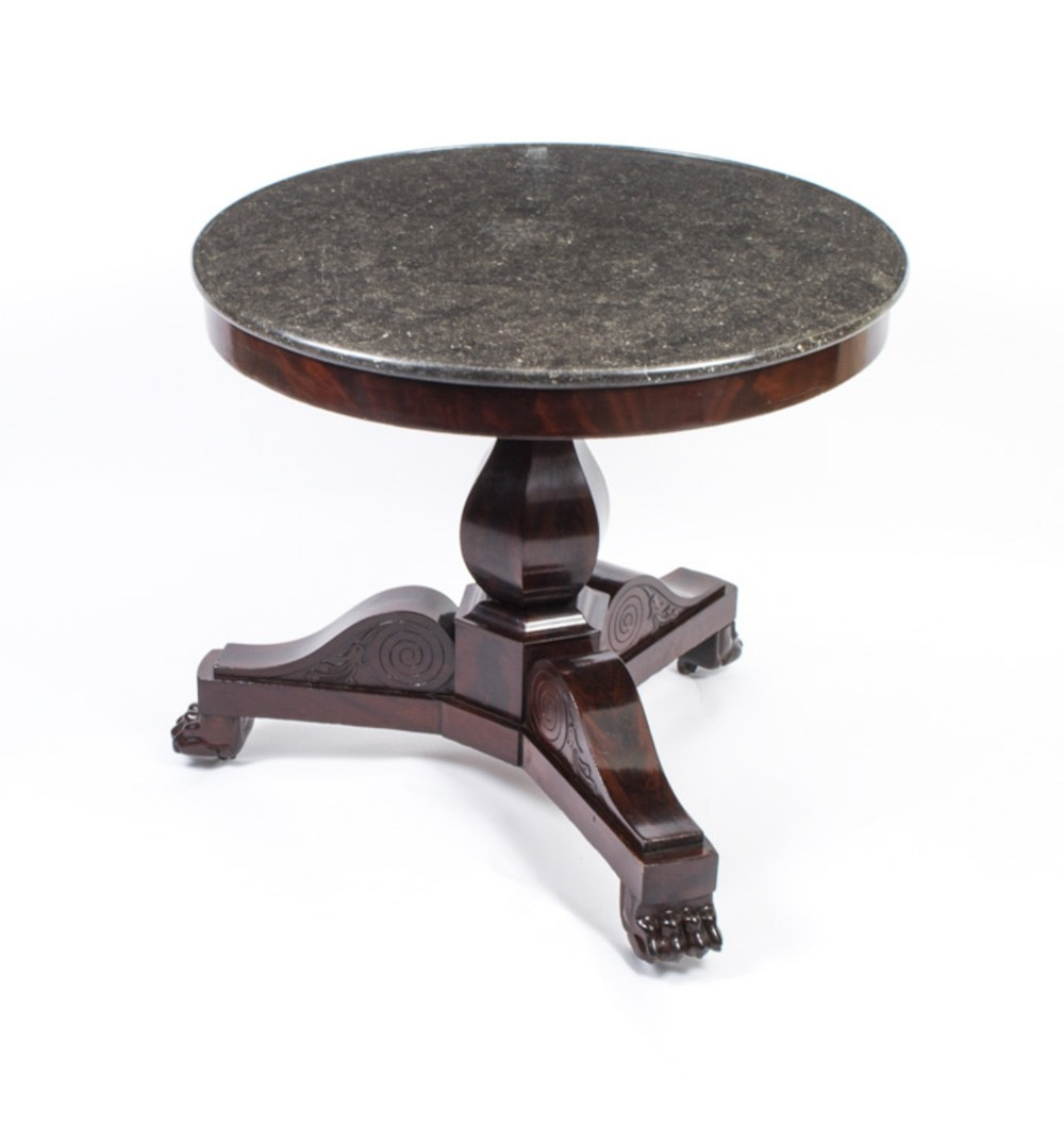 antique french charles x marble topped occasional centre table c1820 19th c
