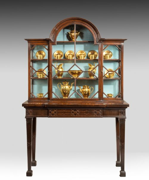 Well Presented Glass China Cabinet Dated 1870 Cabinets Antiques