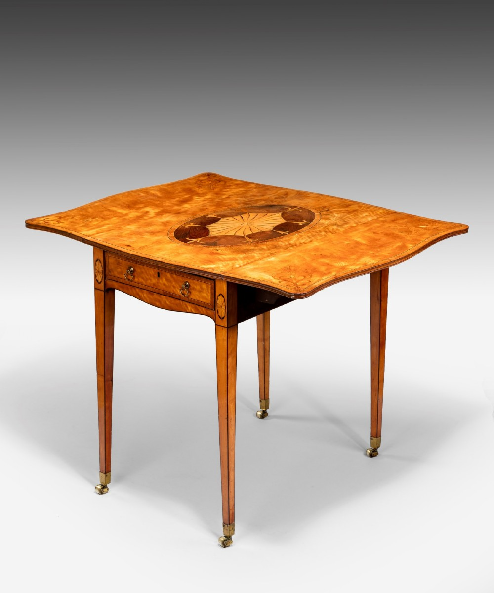 georgian sheraton period satinwood and marquetry pembroke table