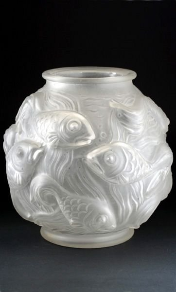 C1930s Czechoslovakian Art Deco Moulded Fish Vase 123774