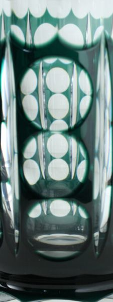 c1930s40s val st lambert emerald to clear deco crystal florenville vase - photo angle #2