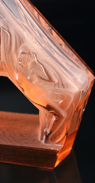 rare c1930s heinrich hoffmann art deco pink glass figural scent perfume bottle - photo angle #3