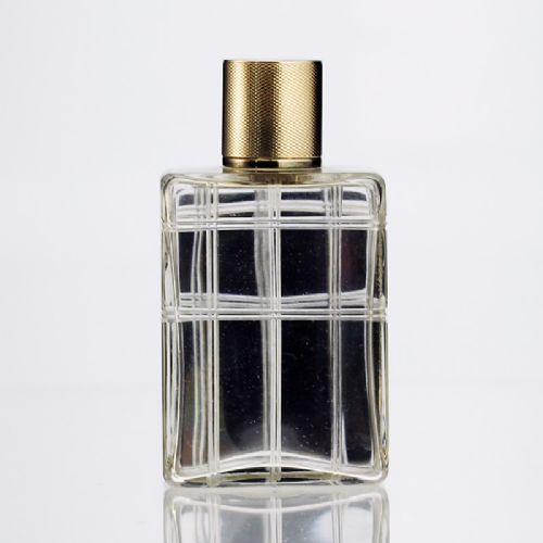 1942 mappin webb crystal dressing table scent perfume bottle silver gilt top