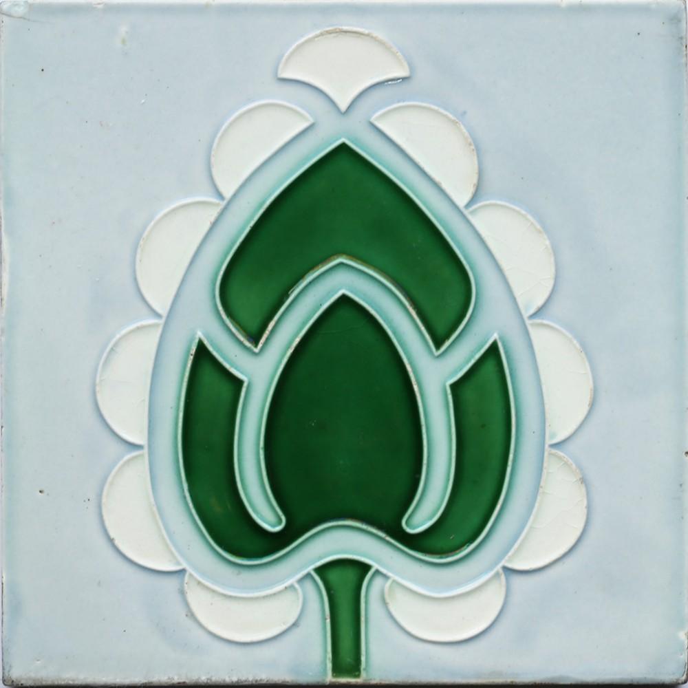 c1900 somag meissen art nouveau tile framed