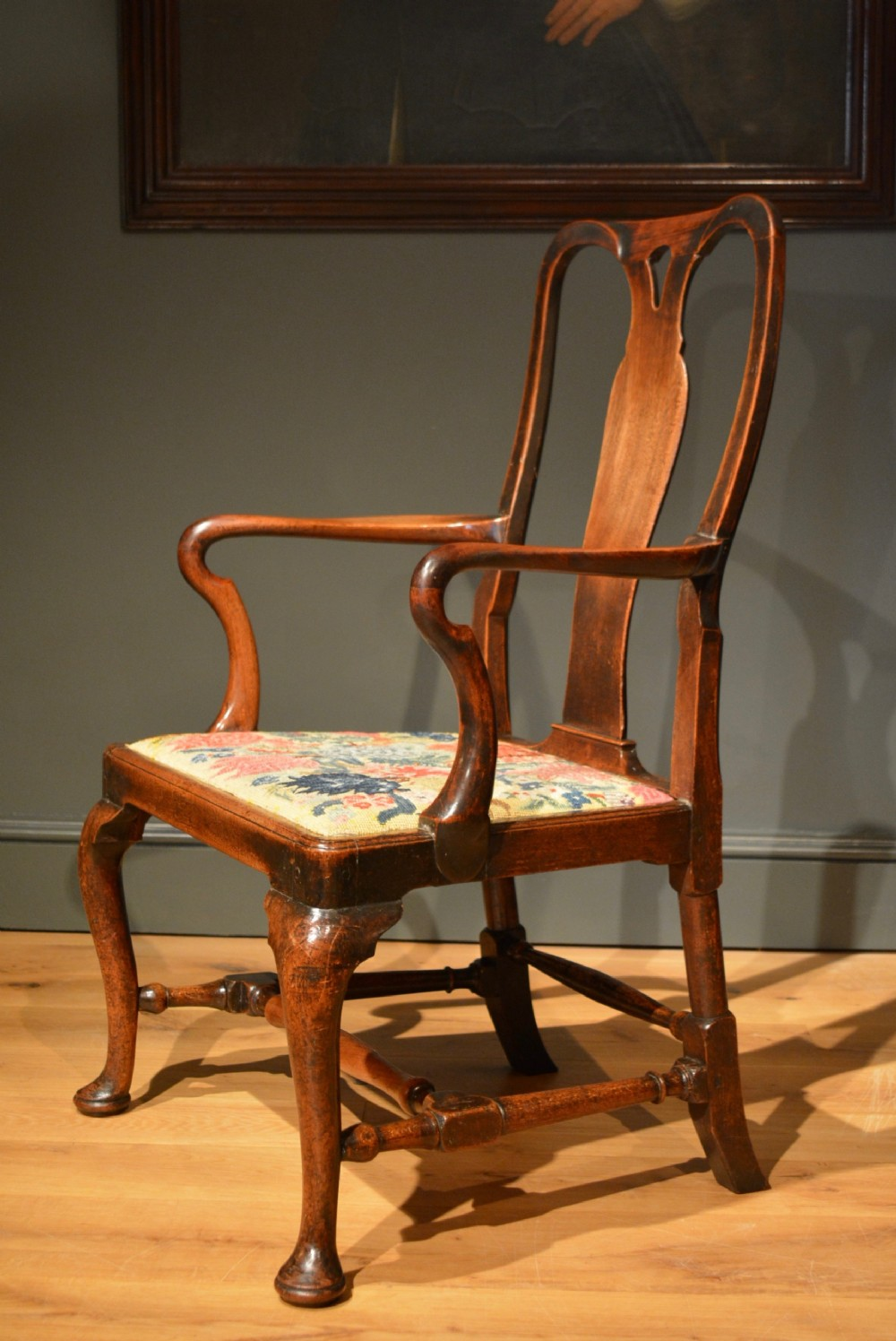 18th century virginia walnut armchair