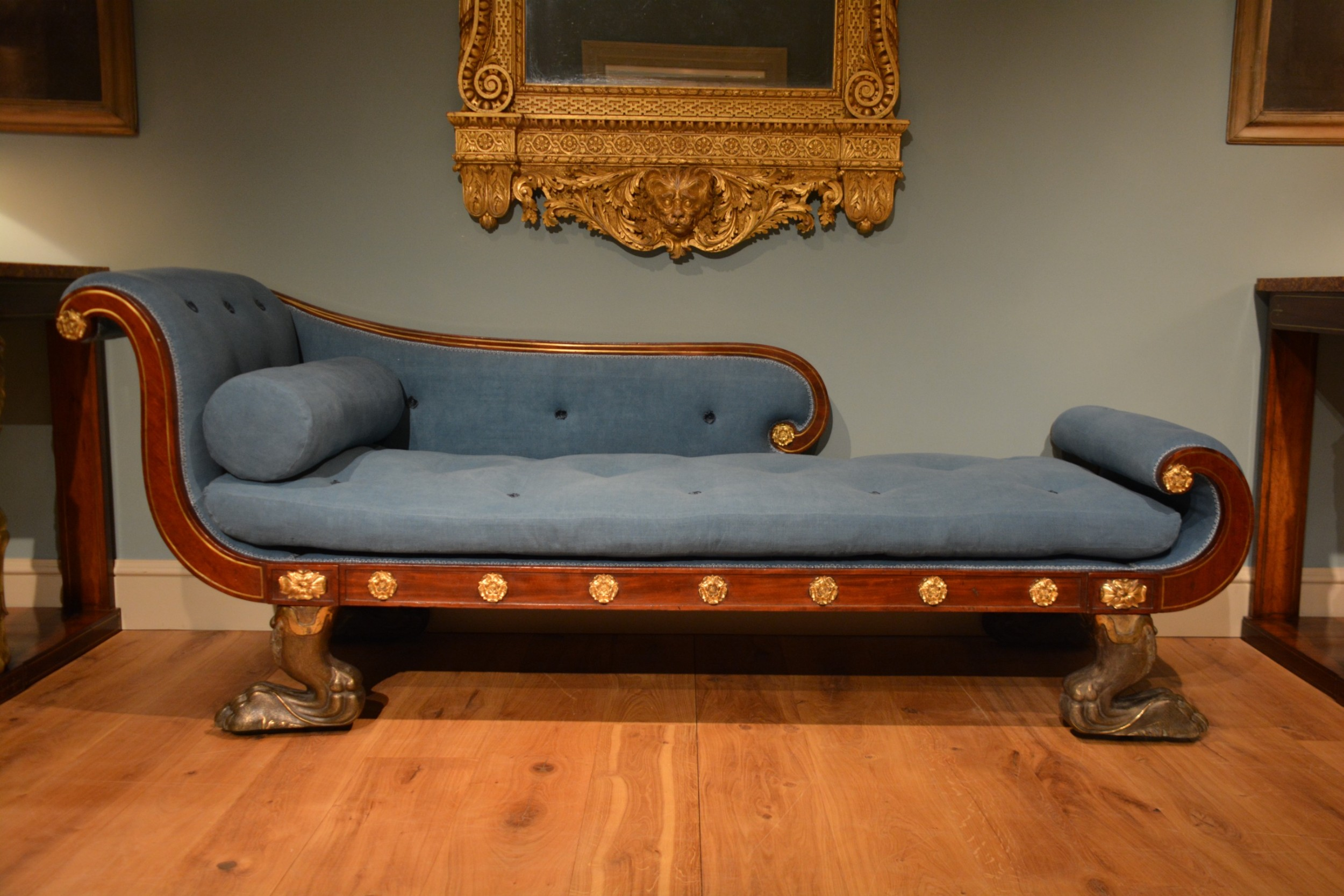 early 19th century mahogany scroll ended daybed