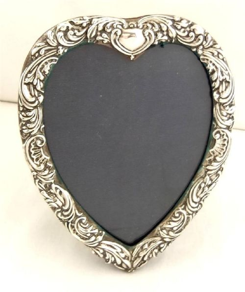 Antique Sterling Silver Heart Frame 6 Birmingham 1902 245090