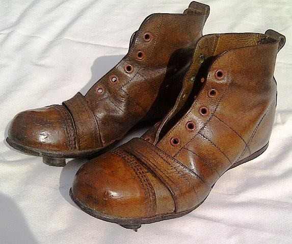 9d2daac55 Super Pair Childs Vintage Leather Football Boots Size 2 Circa 1940 ...