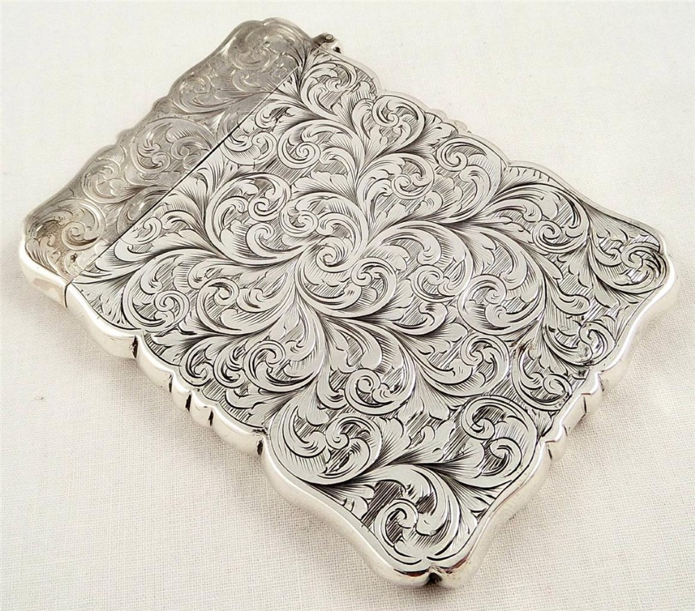 Victorian Silver Card Case Birmingham 1865 | 264152 ...
