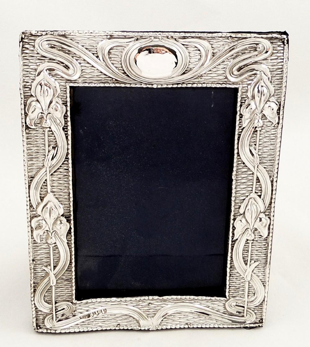 Antique Art Nouveau Sterling Silver Photo Frame 1903 307460