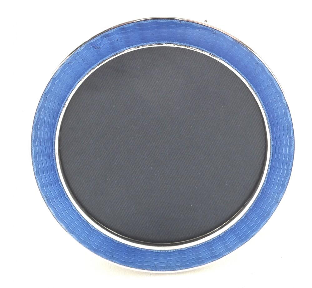 Antique Sterling Silver & Blue Enamel Photo Frame - Mappin & Webb ...