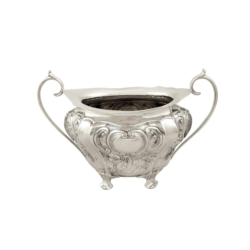 antique edwardian sterling silver 2 handle bowl walker hall 1904