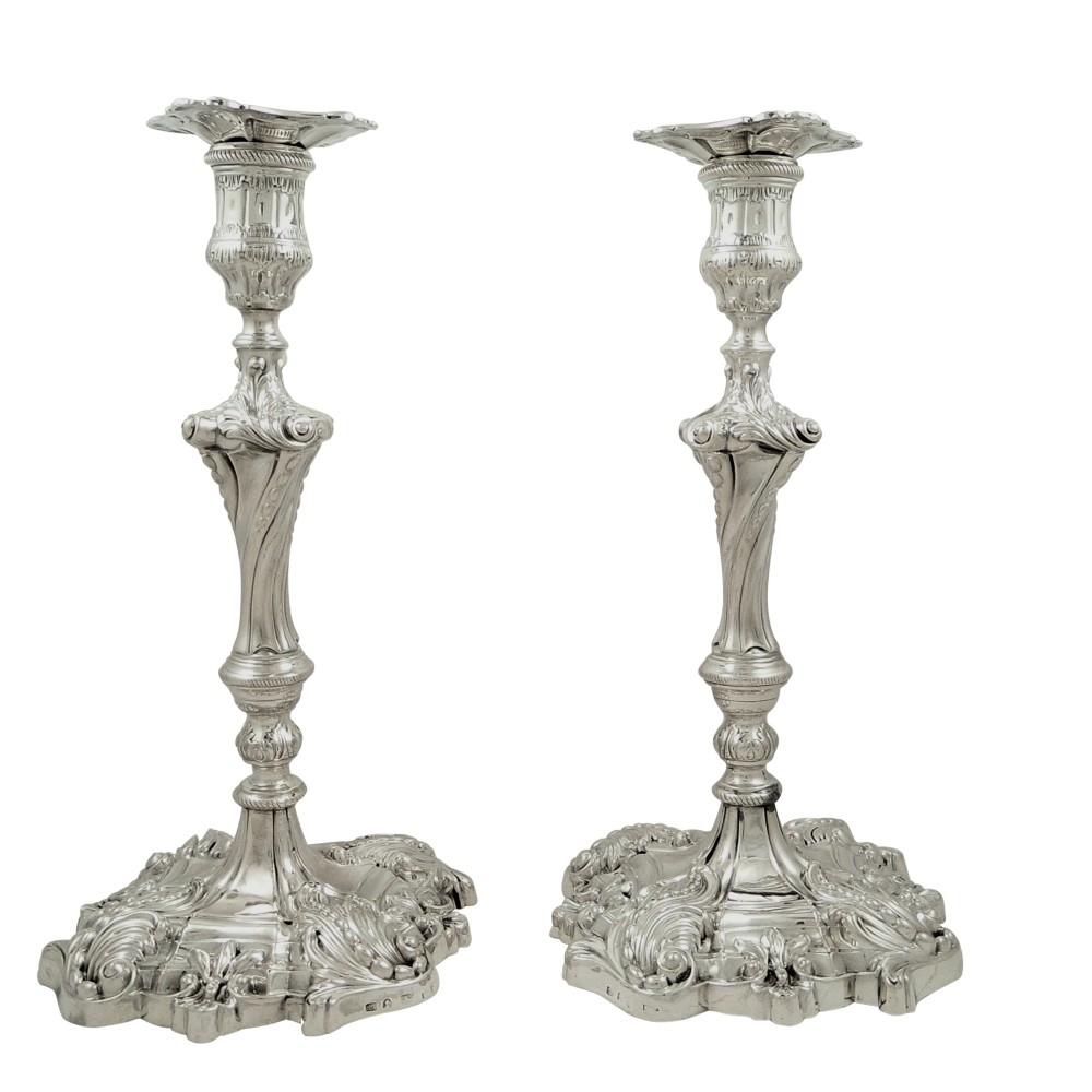 Auction Exchange USA - Tall Sterling Silver Candlesticks