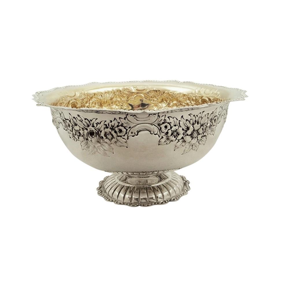 antique edwardian sterling silver pedestal bowl 1904