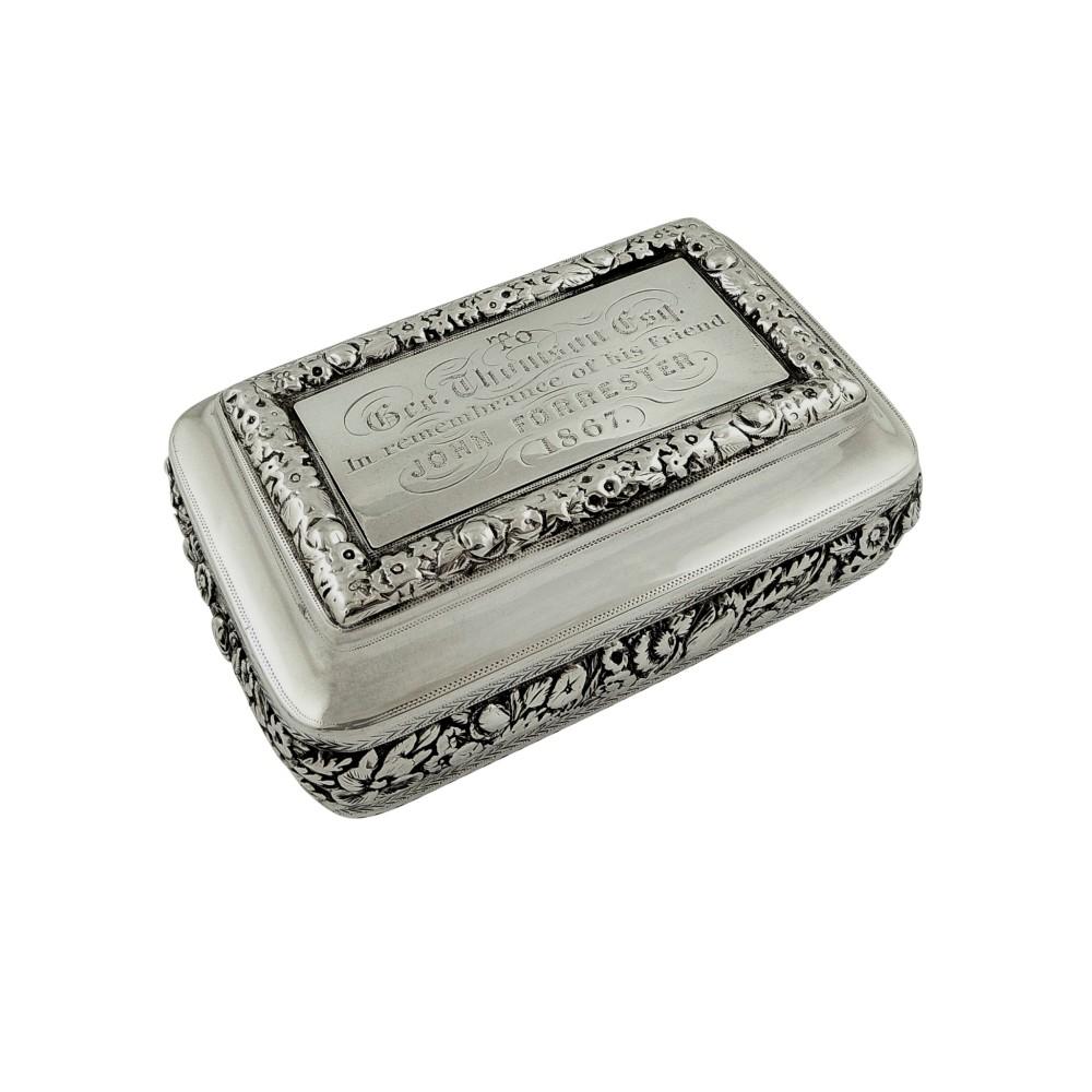 antique georgian sterling silver snuff box 1817