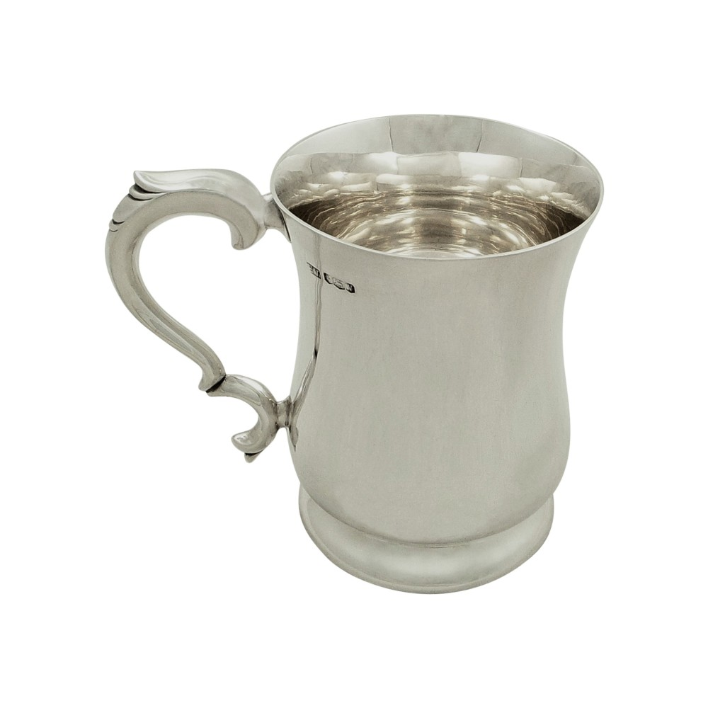 antique sterling silver tankard mug 1938