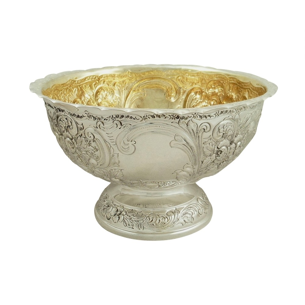 antique sterling silver presentation bowl 1901