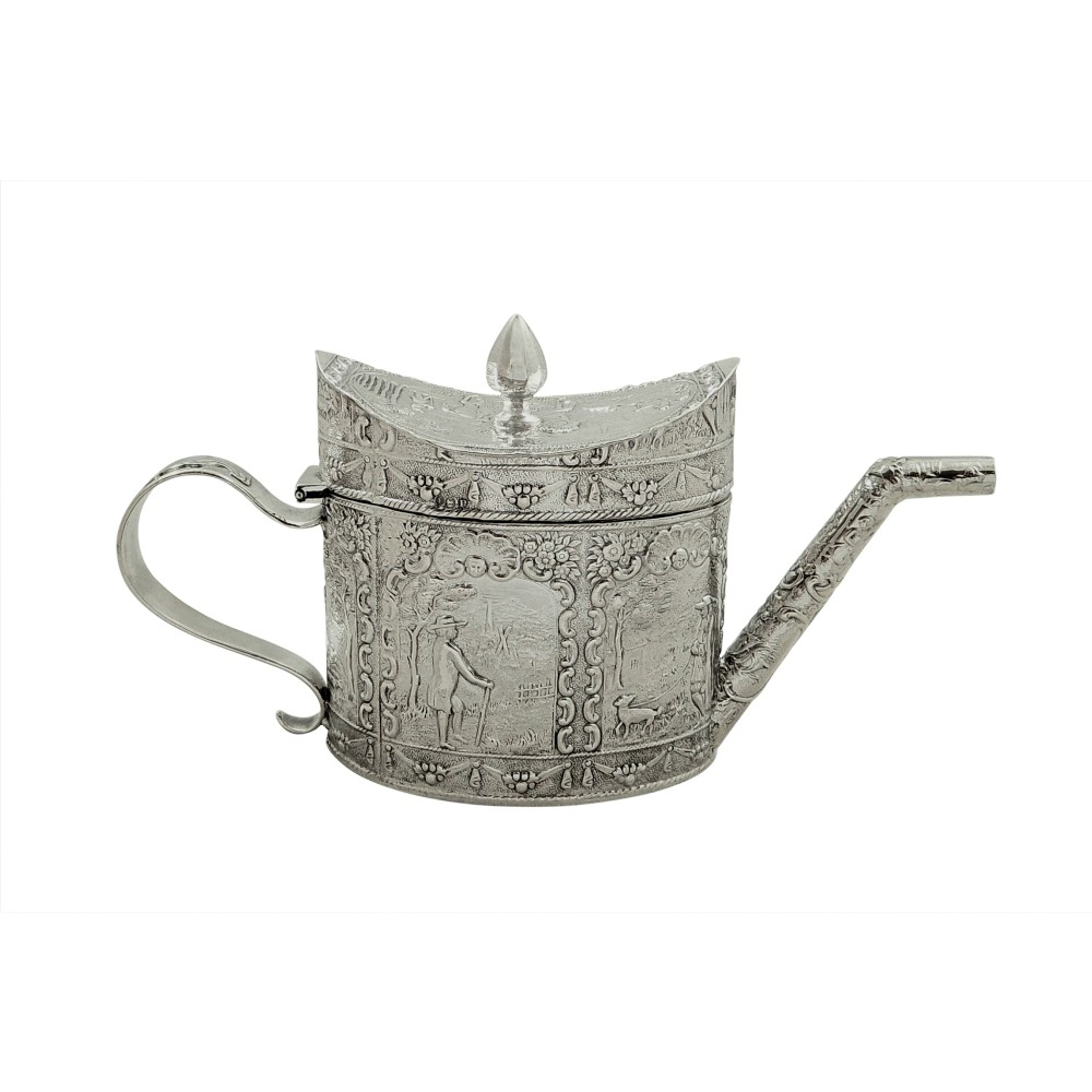 antique victorian sterling silver miniature teapot 1890