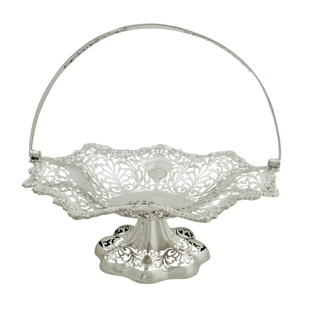 antique edwardian sterling silver basket 1908
