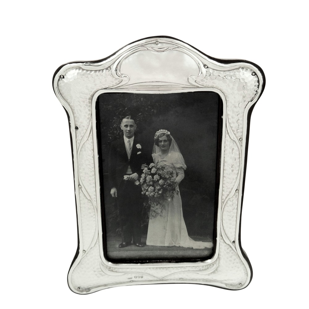 antique sterling silver 7 12 photo frame 1911