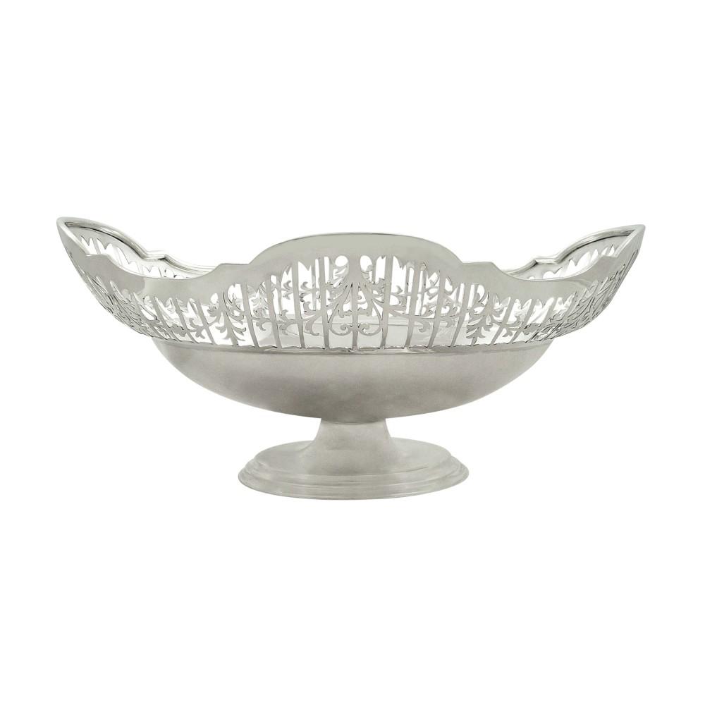 antique sterling silver oval pierced 10 dish basket 1911