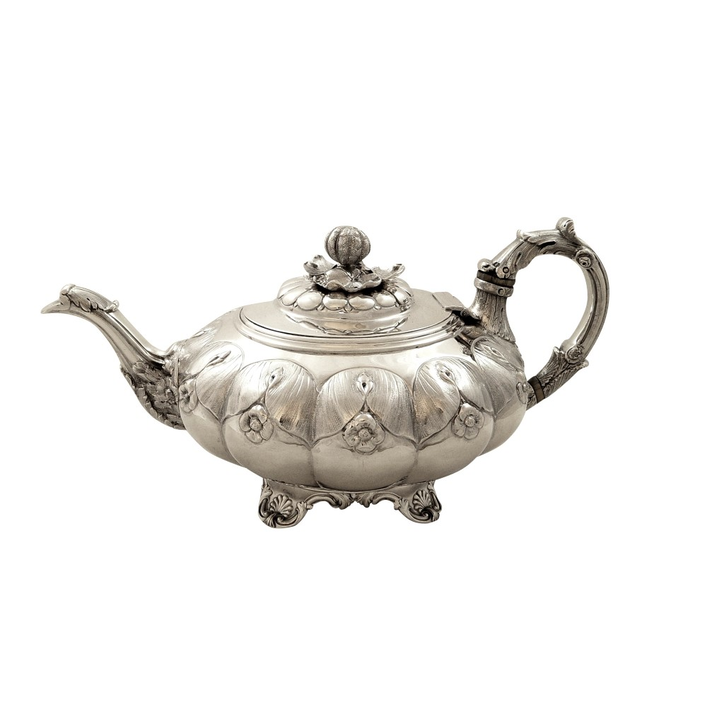 antique georgian sterling silver teapot 1828
