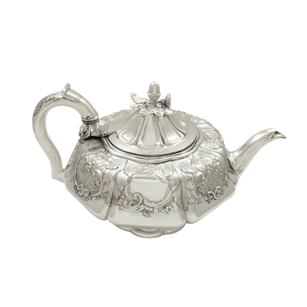 antique georgian sterling silver teapot 1827